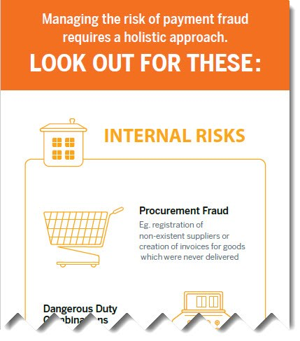 Areas at risk of payment fraud infographic